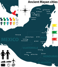 Map Of The Mayan Cities