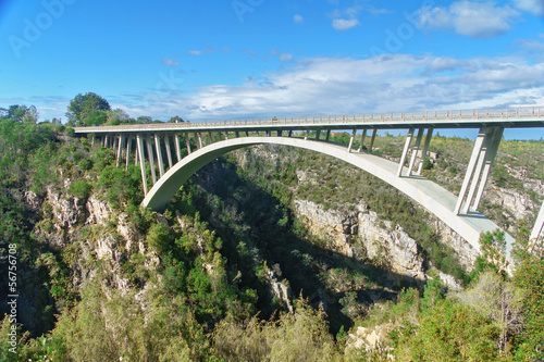 Tableau sur Toile Bridge in Tsitsikamma national park, Garden route, South Africa