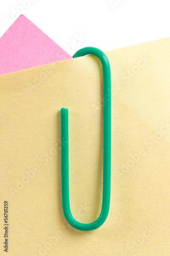 Fotografie, Obraz  Paper Clip with Sticky Post