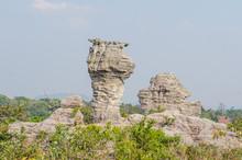 Amazing Shape Of Rock At Pa Hin Ngam National Park