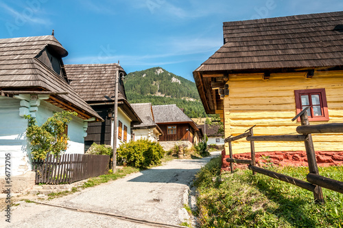 Wall Murals Northern Europe In The Streeet Wooden Settlement Vlkolinec