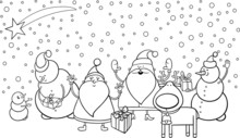 Christmas Characters Coloring ...