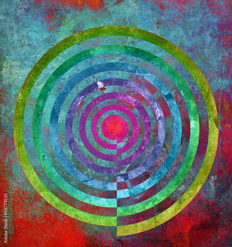 Poster Spiraal abstrakt textur zentrum spirale