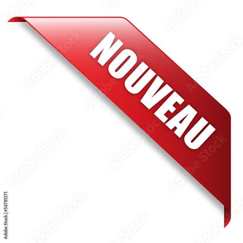 Fotografia  Ruban Publicitaire NOUVEAU (tampon bannière nouveauté publicité)