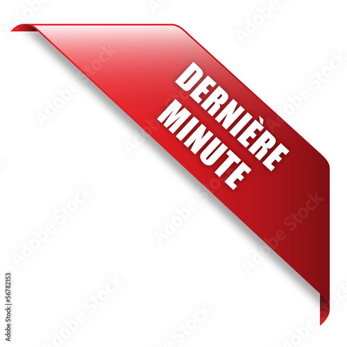 Vászonkép  Ruban Publicitaire DERNIERE MINUTE (soldes prix offre)