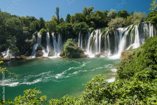 Keuken foto achterwand Watervallen The Kravica waterfalls in Bosnia and Herzegovina