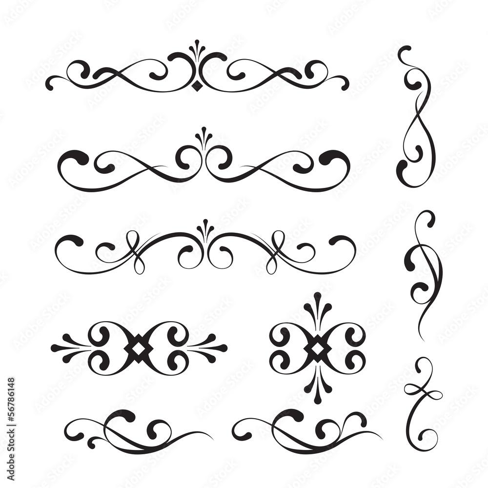 Fototapeta Decorative elements and ornaments
