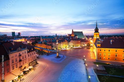 Fototapety, obrazy: View of the Plac Zamkowy,