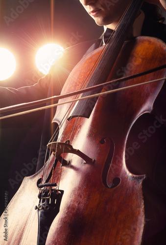 Fototapeten Musik Cellist