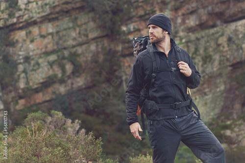 Obraz na plátně mountain trekking man