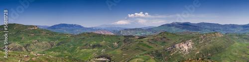 Cadres-photo bureau Kaki Panorama of the sicilian hillscape