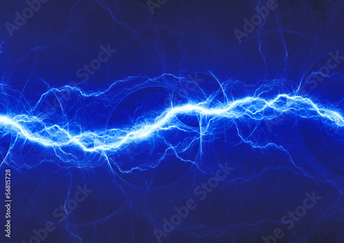 Photo blue fantasy lightning