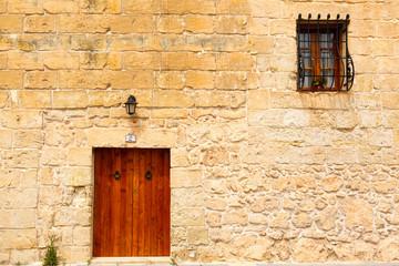 Fototapeta na wymiar wooden front door to the house