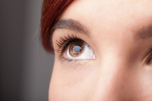 Portrait Of A Pretty Girl  Close Up Eye