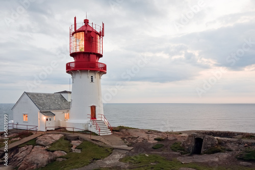 Photo sur Toile Phare Lindesnes Fyr
