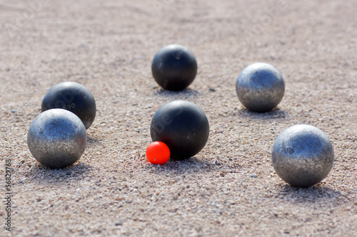pétanque point boule noire Canvas Print