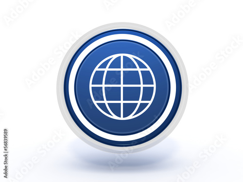 Fotografie, Obraz  globe circular icon on white background