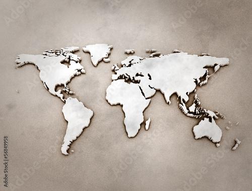 Old map 3d illustration