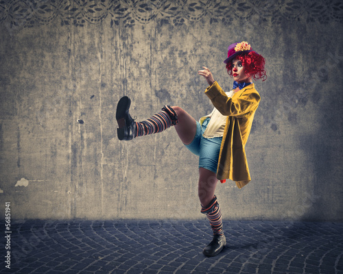 ironic clown Fototapet