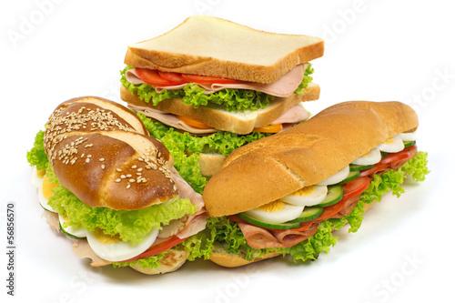 Staande foto Snack Sandwich Sortiment