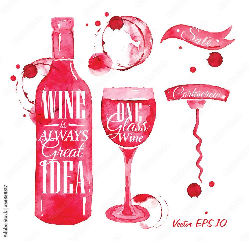 Wskaźnik wlewany do wina z napisem wino jest zawsze dobry <span>plik: #56858317 | autor: anna42f</span>