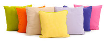 Colorful Pillows Isolated On W...