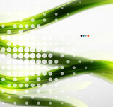 Abstract green eco line template