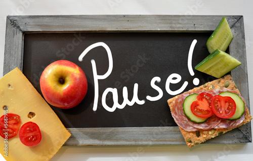 Fotografie, Obraz  Pause Tafel Schule Frühstück
