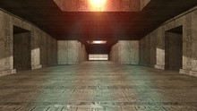 Futuristic Pyramid Interior