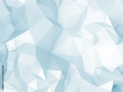 Abstract blue digital 3d polygonal surface background texture © evannovostro