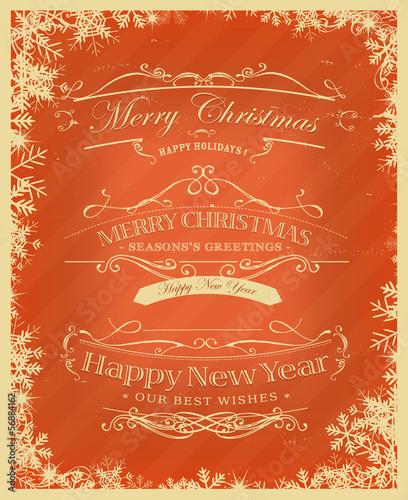 Merry Christmas Retro Background