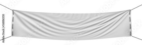 Fototapeta empty banner  (clipping path included) obraz