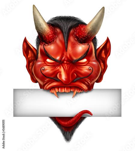 Photo  Devil Head Blank Sign
