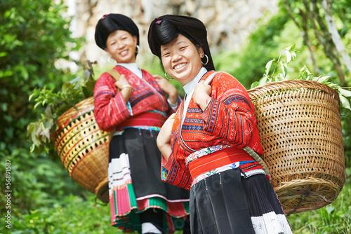 Cuadros en Lienzo smiling chinese minority woman Yao