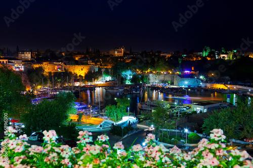 Foto op Plexiglas Japan Old town Kaleici in Antalya, Turkey at night