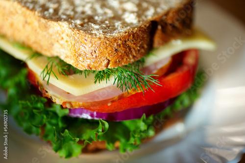Cadres-photo bureau Snack Close up of sandwich