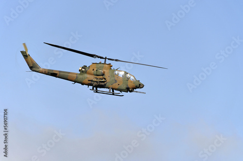 Tuinposter Helicopter Attack Helicopter