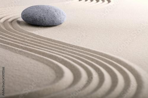 Acrylic Prints Stones in Sand zen sand stone garden