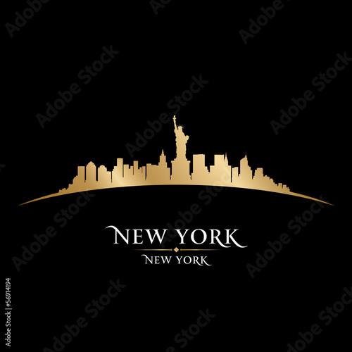 Nowy Jork miasta linii horyzontu sylwetki czerni tło