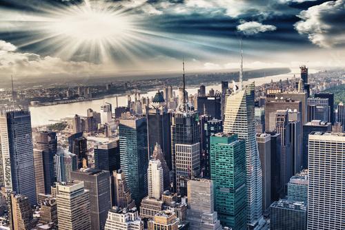 Papiers peints New York Aerial view of the skyline of manhattan