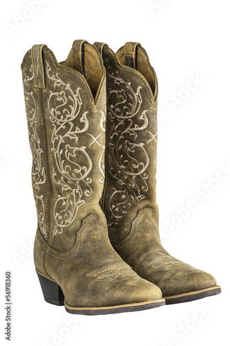 Fotografía  Ladies Brown Western Cowboy Boots