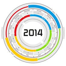 2014 Circular Calendar - Futuristic Concept Design