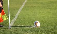 Ballon De Coup De Pied De Coin Au Football