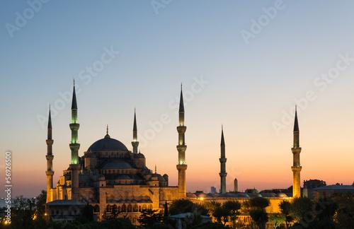Printed kitchen splashbacks Turkey The Blue Mosque at Sunset