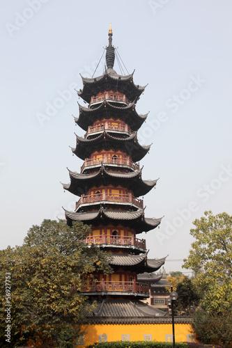 Photo  Pagoda at the Longhua Temple in Shanghai, China