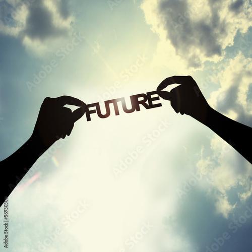 Fotografie, Obraz  holding future in sky