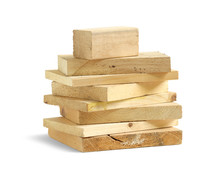 Stack Of Wood Scrap Isolated O...