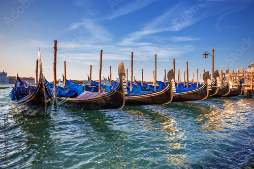 Foto op Plexiglas Venetie gondolas in Venice. Italy.