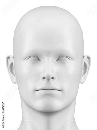 Fotografía  3d rendered illustration of a male head