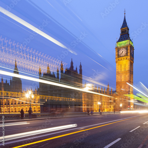 Photo  Big Ben illuminated at night, London